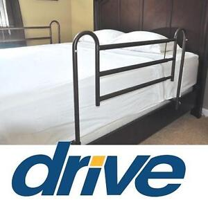 NEW DRIVE MEDICAL BED RAILS Drive Medical Home Bed Style Adjustable Length 1 Pair Bed Rails 103782539