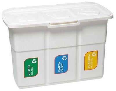 Ondis24 Abfallsammler Mülleimer Recycling Wertstoffsammler Mülltrenner Ecopat