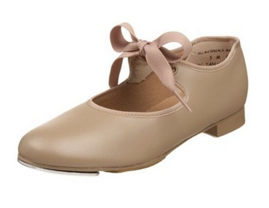 Capezio 625T Toddler Size 7W Tan Jr Tyette Tap Shoes