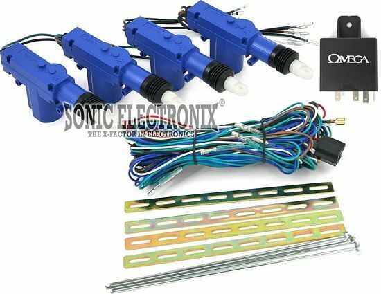 Omega DS-KIT-4.4 4-Door Central Locking System Kit w/ Actuators & Wire Leads