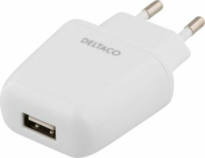 DELTACO  EU 2,4A USB WALL CHARGER POWER ADAPTER
