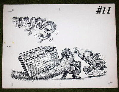 Original 1940 Reading Eagle Times Newspaper Illustrated Art  By Gensler  11