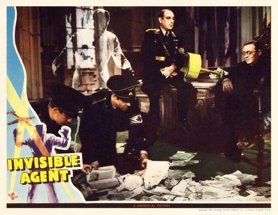 INVISIBLE AGENT great lobby to 8x10 still -- (lc007)