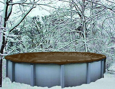 24' Round Above Ground Winter Swimming Pool Solid Cover 10 Yr Warranty solid New
