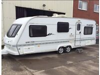 4 BERTH TWIN WHEEL 2001 ELDDIS FIRE STORM WITH FIX BED AIR CON AND MANY EXTRAS AND WE CAN DELIVER