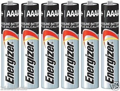 6 Battery Energizer AAAA E96 1.5V Alkaline Replaces E96, LR8D425, MN2500, MX2500