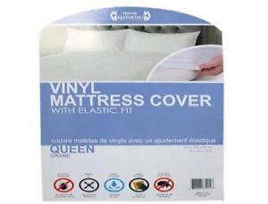 Vinyl Mattress Protector with elastic fit
