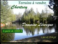 Terrains/Lands a partir/From 10000 $ - Lac/Lake - 1h Montreal