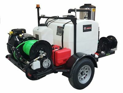 American Jetter 58 Series Hot Trailer Jetter 8540 - 32.5 Hp 8.5 Gpm 4000 Psi