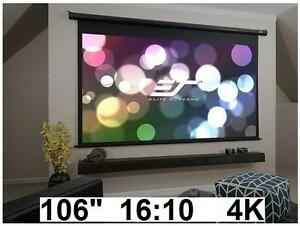 NEW ELITE ELECTRIC PROJECTOR SCREEN Elite Screens Home Theater Electric Motorized Drop Down ELECTRONICS 102979098