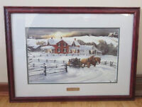 SIGNED PRINT BY RENOWNED ARTIST WALTER CAMPBELL 21 x  28