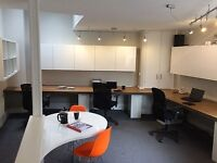 Desk space available in smart friendly office in Putney.