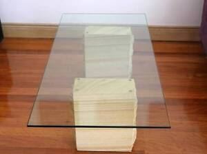 Glass and sandstone coffee table Willoughby Willoughby Area Preview