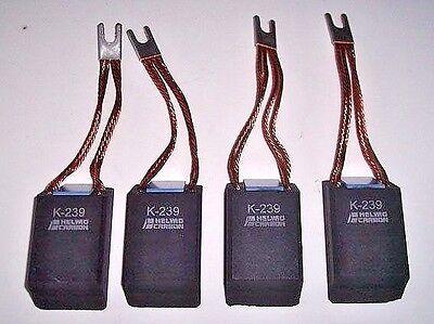 """4 NEW HELWIG CARBON K 239 MOTOR BRUSHES 2.75"""" x 1.5"""" x1""""  2 3/4""""x1 1/2""""x1"""" BRUSH"""