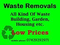 Waste Removals, Garden Waste, Housing Clearance, Demolition Waste etc.
