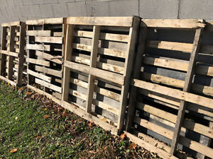 Pallets (7 of them) FREE