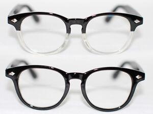 nerd brille 80er jahre rund retro glasses klarglas hornbrille streber black 927 ebay. Black Bedroom Furniture Sets. Home Design Ideas