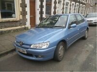 Blue 1999 Peugeot 306 Diesel Drives well, Short Mot