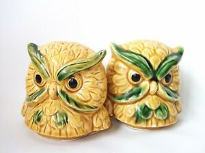 vintage pair of owl  Salt and Pepper Shakers