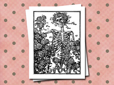 Grateful Dead Blank Greeting Cards Note Cards Stationery Set of 10 with Envelpes