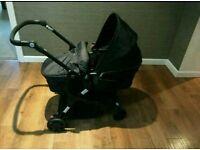 Black babystart pushchair pram combi