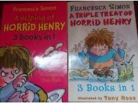 HORRID HENRY BOOKS X2 '3 books in one'