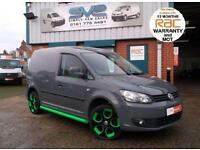 VW CADDY SWB RADIO ACTIVE EDITION CUSTOM VAN AIR CON, SIDE BARS, 18IN ALLOYS