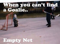 GOALIES REQUIRED