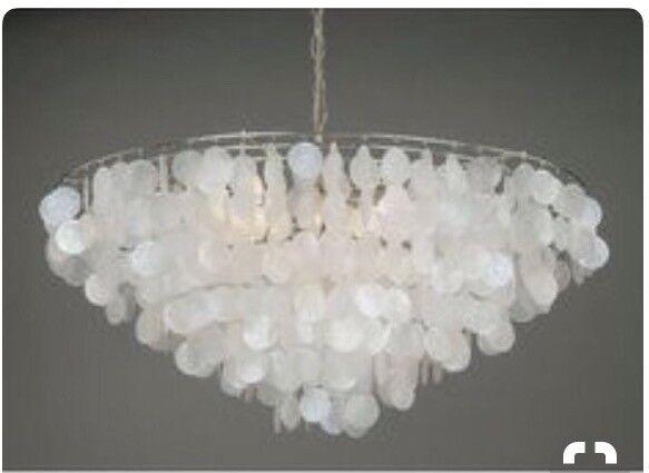 Laura ashley capiz shell chandelier in stirling gumtree laura ashley capiz shell chandelier mozeypictures Choice Image