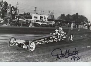 DON GARLITS  AUTOGRAPHED. 1971 AT POMONA   8x12  DRAG RACING PHOTO
