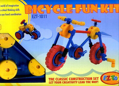 NEW ez toy BICYCLE FUN KIT Educational bike LEARNING KID BUILDING 52 piece set