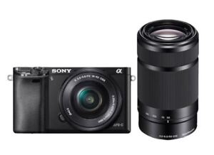 Sony A6000 with 16-50mm and E 55-210mm + case+SD