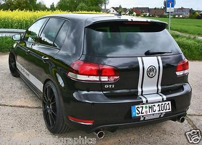 Center Rally stripes Graphics Stripe Decal FIT Volkswagen VW Jetta Golf GTI