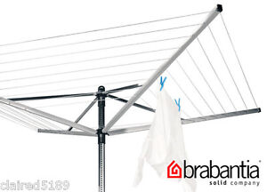 Brand New Brabantia Liftomatic 50m 4 Arm Rotary Airer Washing Line with Spike