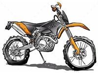 WANTED ANY MOTOCROSS BIKES QUADS KX YZ RM CR KTM