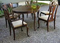 BEAUTIFUL GIBBARD SOLID CHERRY DINING SET