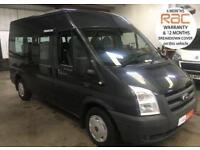 2011 FORD TRANSIT 12 SEAT / SEATER MINIBUS 115BHP METALLIC GREY NO VAT TO PAY