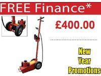 MCANAX 35 TON AIR TROLLEY JACK HIGH LIFT AIR OPERATED SERVICE 2 STAGE LIFT
