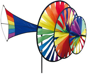 Premier Kites Wind Chimes Large Triple Spinner Rainbow
