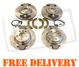 BMW X5 E53 FRONT & REAR BRAKE DISCS AND PADS & HAND BRAKE SHOES 00-07