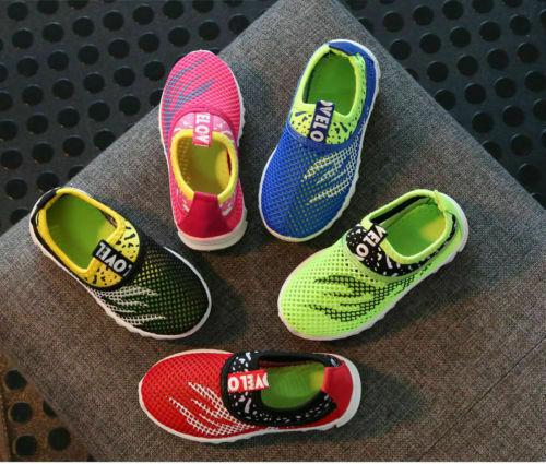 Kinder Jungen Mädchen Flats Sneakers Mesh Sandale Turnschuhe Sport Laufschuhe