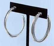 David Yurman Gold Silver Earrings