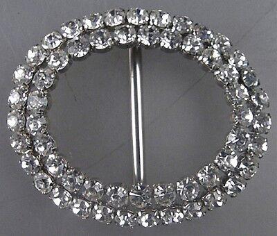 Neugablonz: große Gürtelschnalle Swarovski Elements ab 1950 (23367)