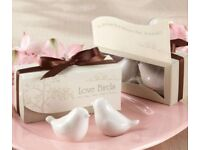 2pcs Fun Cute Ceramic Love Bird Cruet Spice Salt Pepper Shakers Set in Gift Box x15 - £30