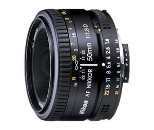 Nikon 50mm f/1.8D AF Nikkor Lens - BARELY USED