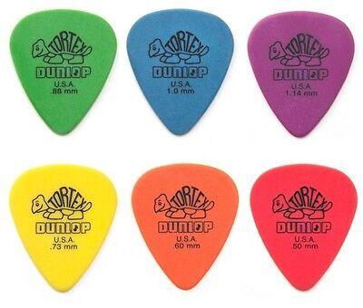 Dunlop Tortex Guitar Picks - a mixed Pack - 1 each of .50 .60 .73 .88 1.0 1.14