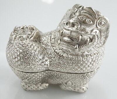orientalischer Silber Behälter Figur für Schmuck u. Accessoires etc. Vintage