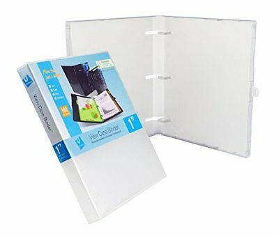 3 Ring Case View Case Binder With Overlay - 1.0 Inches Clear - 3 Pack
