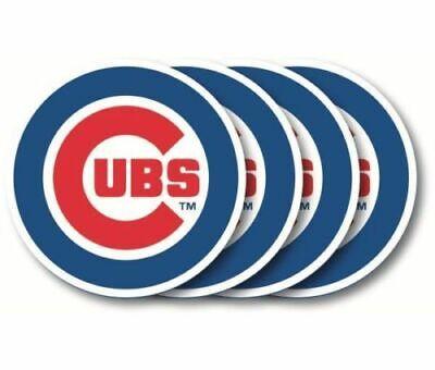 Chicago Cubs Mlb Set - MLB Chicago Cubs Vinyl Coast Vinyl Coaster Set - 4 Pack Duck House Sports