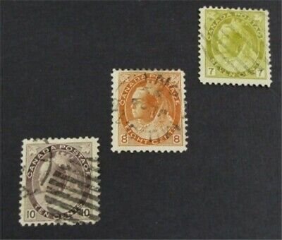nystamps Canada Stamp # 81-83 Used $80   L23y2686